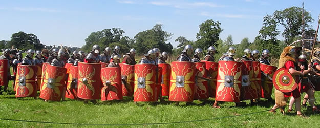 Roman Soldiers - Romans established their military supply depot