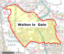 Walton le Dale - Map of Walton le Dale